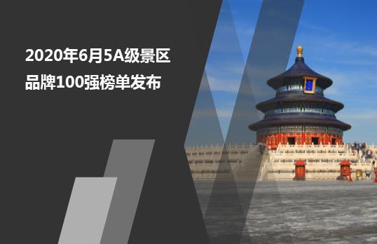 2020年6月5A级景区品牌100强榜单发布