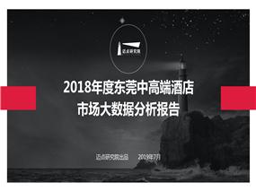 2018年度东莞中高端酒店市场大数据分析报告