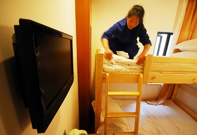 上海市中心有了袖珍旅馆