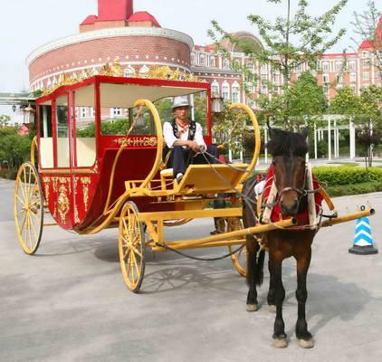 成都一酒店16万元打造马车做婚车