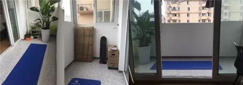 晒晒衣服,放放杂物,是一般阳台最常见的用途了吧。改造前的阳台,很空很普通。