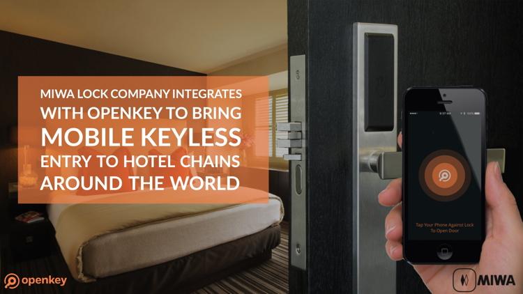 MIWA联手Openkey把无钥进入系统带入世界各地酒店