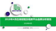 2018年4月在线短租及租房平台品牌发展报告