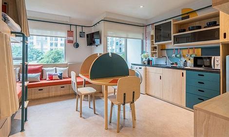 共享公寓这样设计 兼具隐私和社交功能还节约了不少空间!