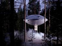 树丛惊现UFO酒店!