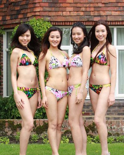 准港姐伦敦酒店拍外景 穿泳装春光无限