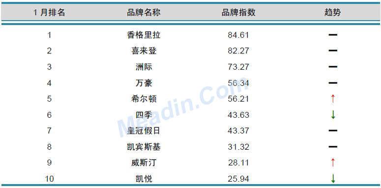 2013年1月中国酒店业品牌发展报告(国际品牌)