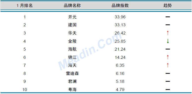 2013年1月中国酒店业品牌发展报告(国内)