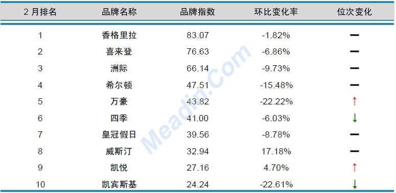 2013年2月中国酒店业品牌发展报告(国际品牌)