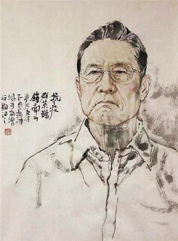 《抗疫群英�V――钟南山》 68cm×45cm 纸本水墨 2020年 赵峰.jpg