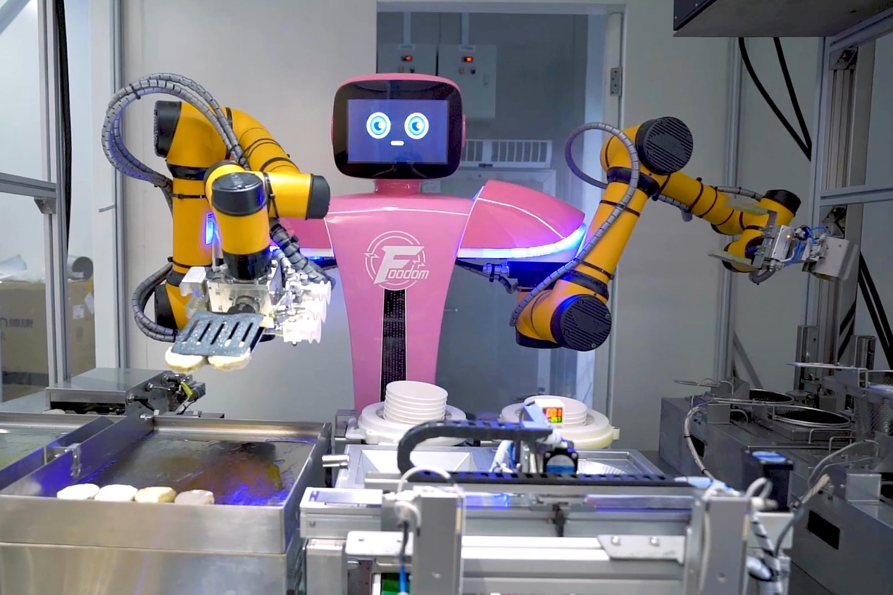 双臂煎炸机器人